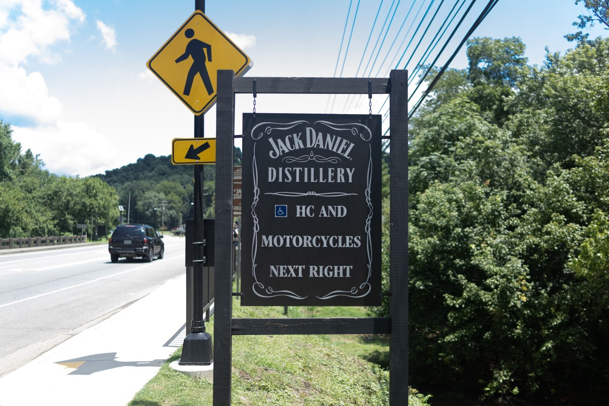 Lynchburg Garage is just steps away from the Jack Daniel Distillery.