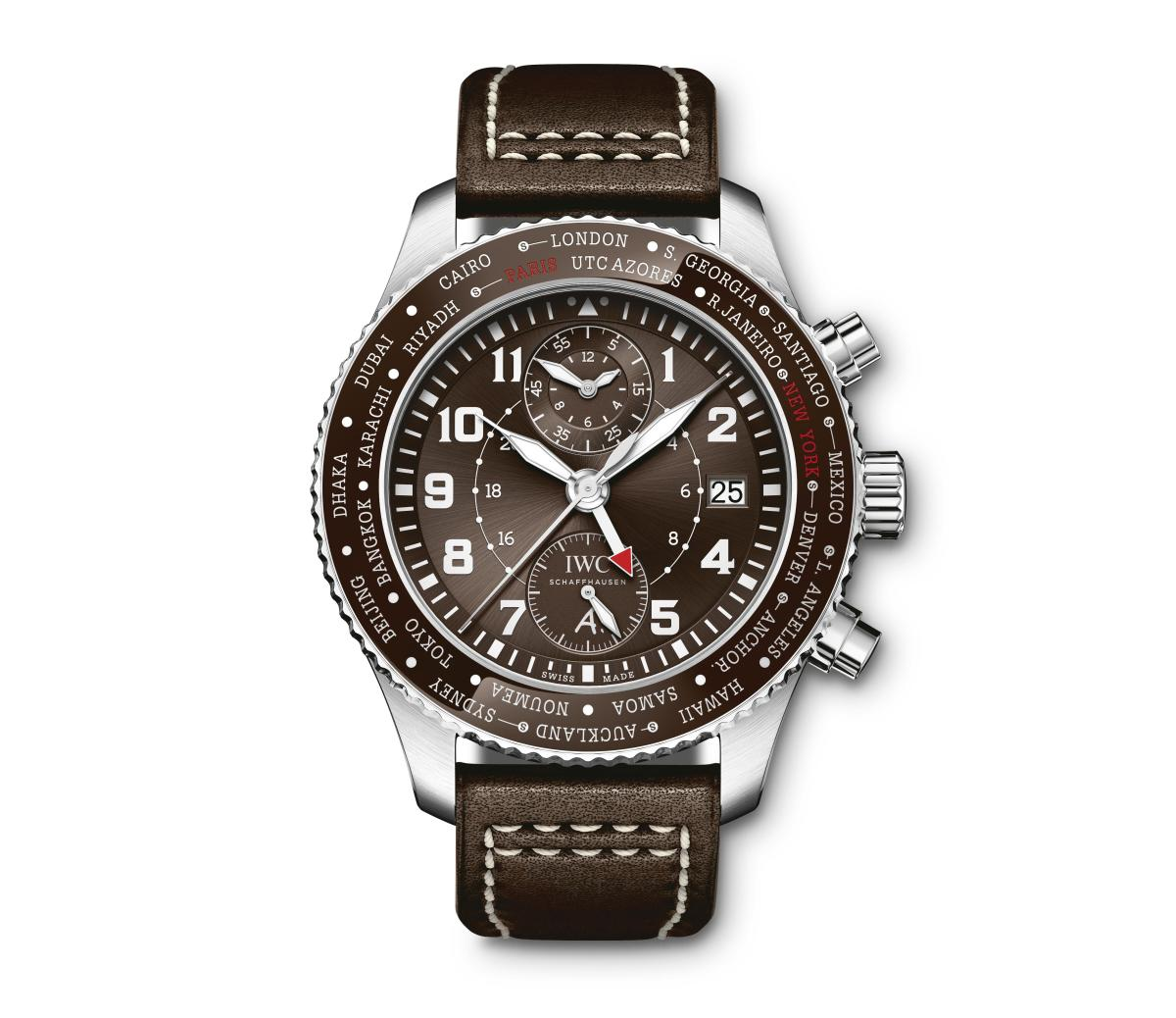 "IWC Pilot's Watch Timezoner Chronograph Edition ""80 Years Flight to New York"""