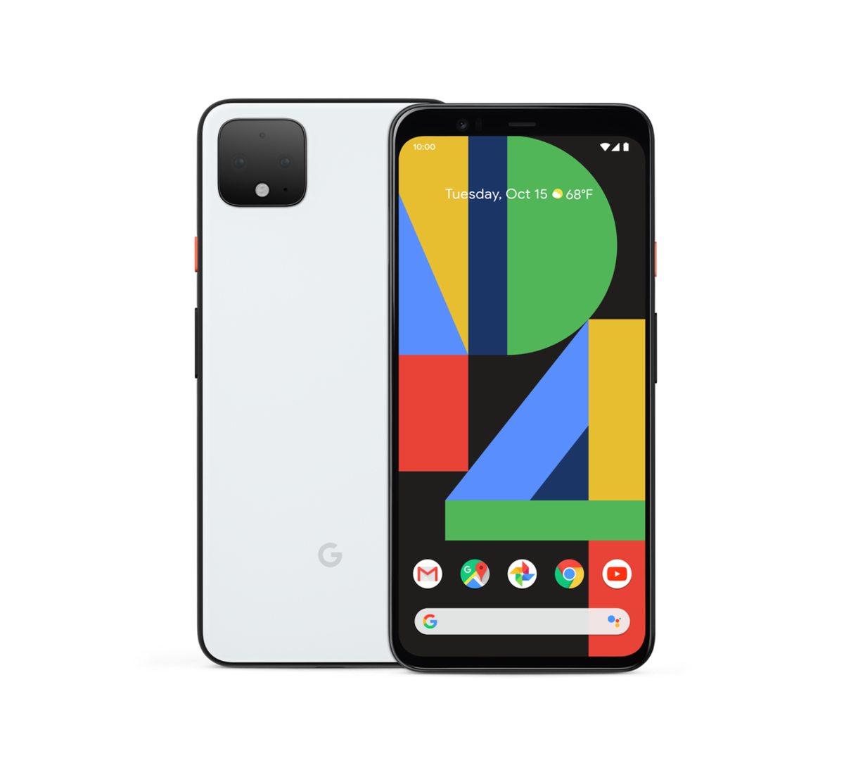 Clearly White Pixel 4 Front_Back