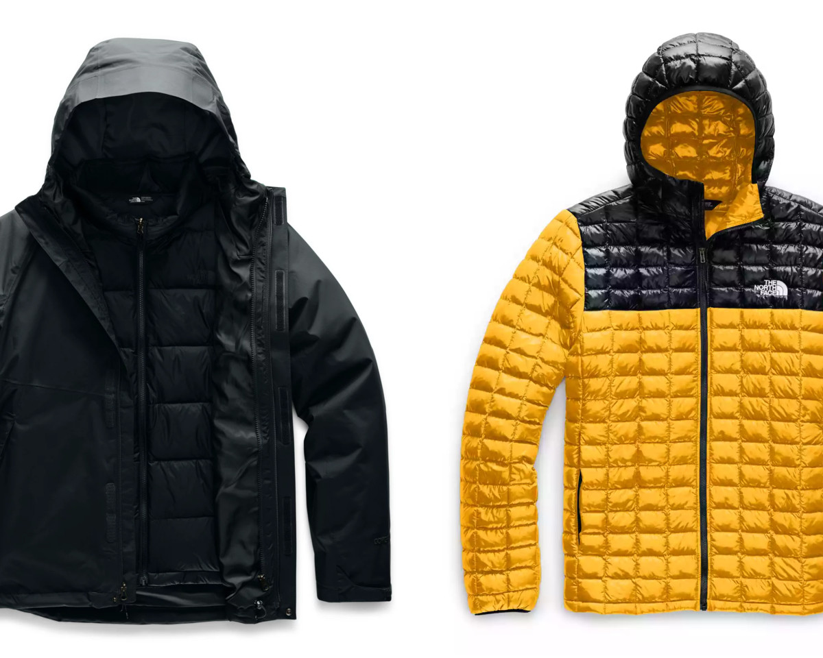 Mountain Light Triclimate Jacket (left - $244), ThermoBall Eco Hoodie (right - $154)