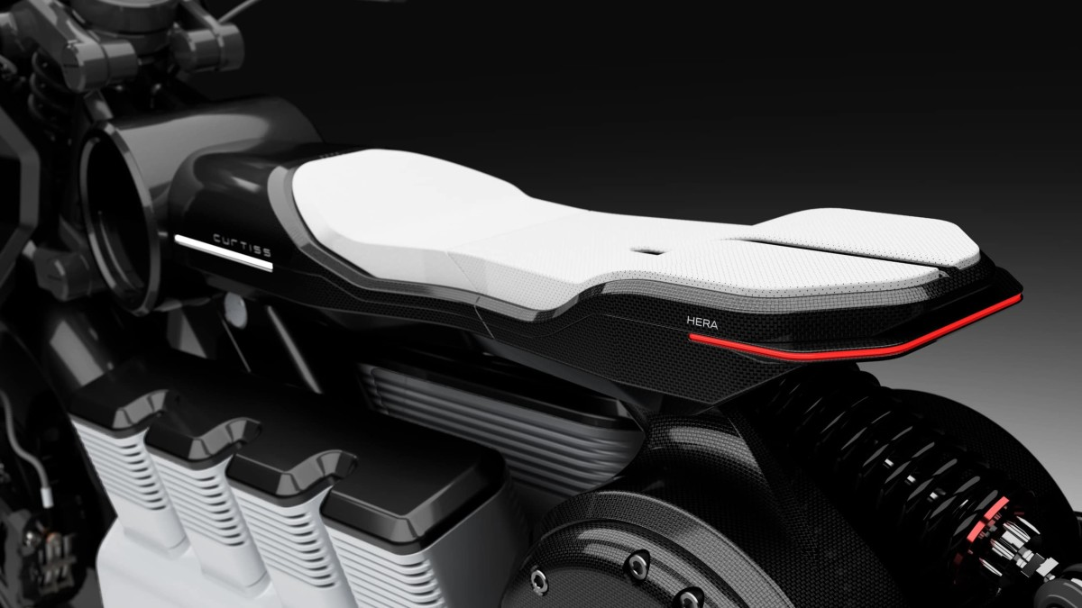 Curtiss reveals the production version of their flagship electric motorcycle