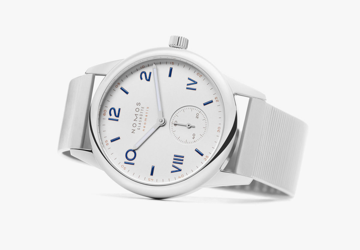 Nomos' new Club Campus watches feature the brand's first metal bracelet