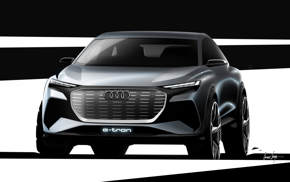 Audi delivers a teaser of its Q4 e-tron concept