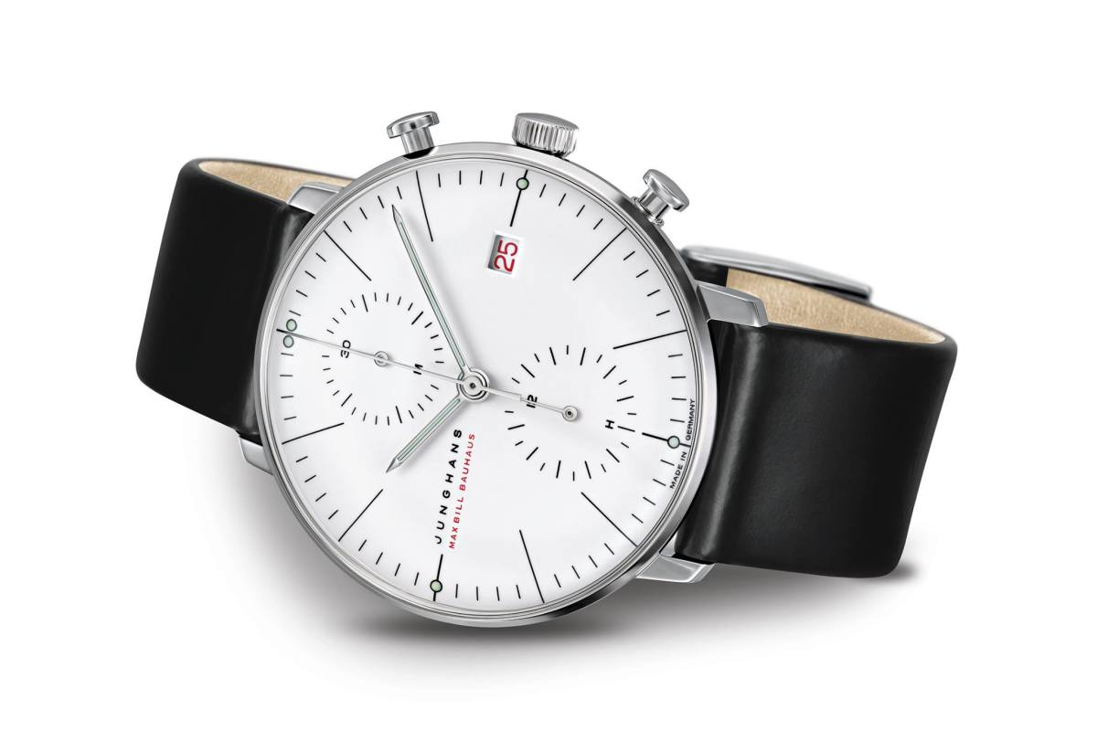 Junghans Max Bill White Gold Chronoscope