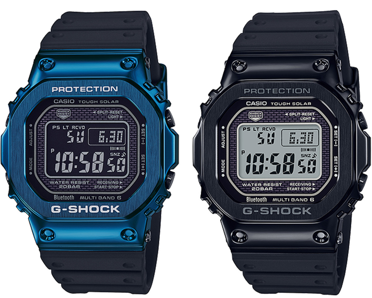 G-Shock 2019 Blue and Black IP Metal