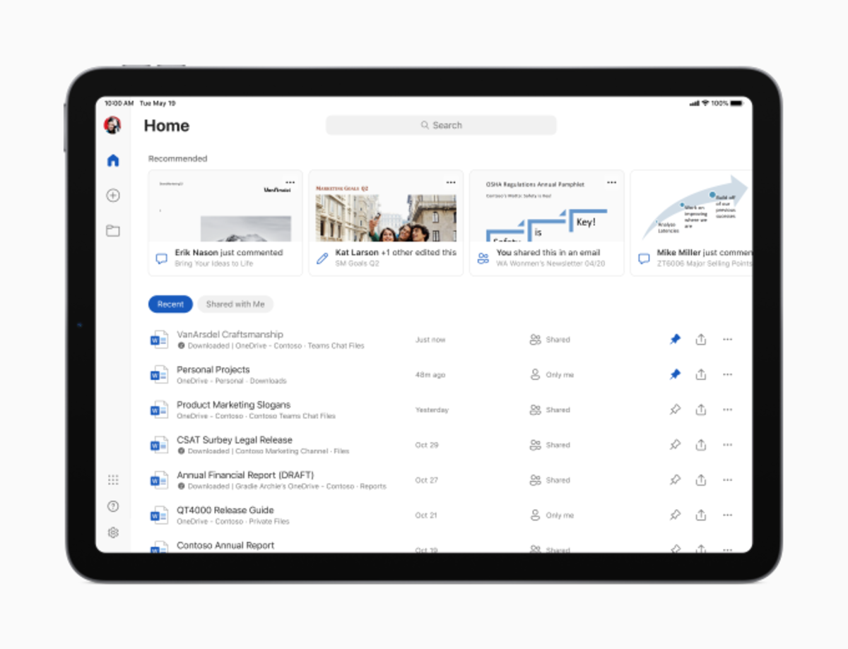 Microsoft Office 365 for the iPad
