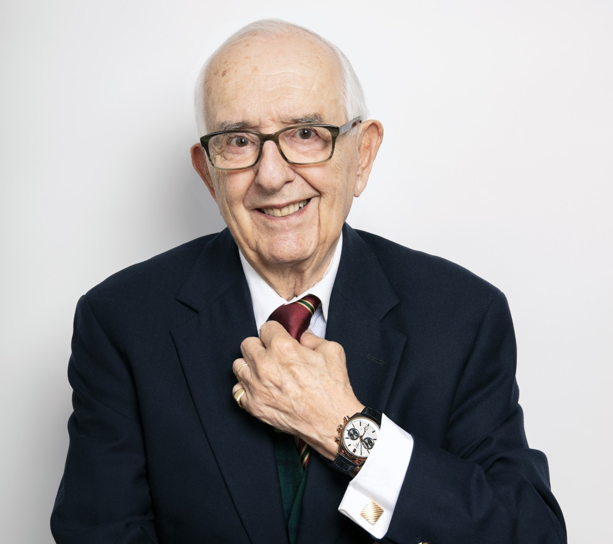 The Carrera's creator and Tag Heuer's honorary chairman, Jack Heuer.