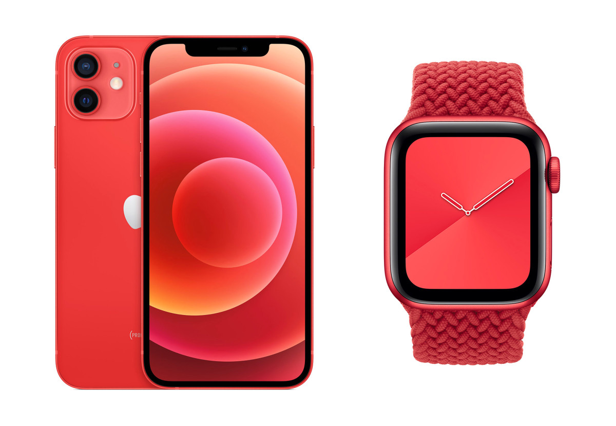 100% of eligible proceeds from products like the (PRODUCT)RED iPhone 12 or Apple Watch will be donated to the Global Fund's COVID-19 response.
