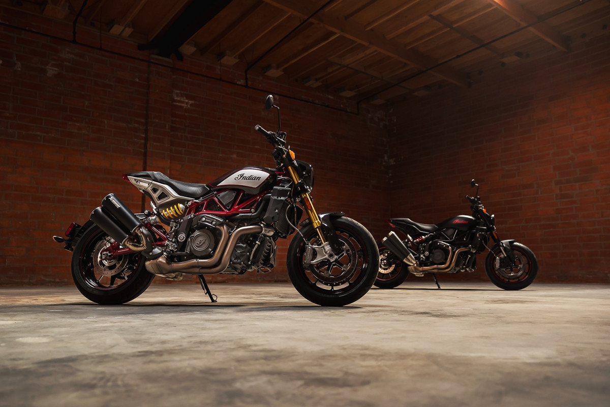 Indian Motorcycle's FTR receives a number of enhancements for the 2022 model year