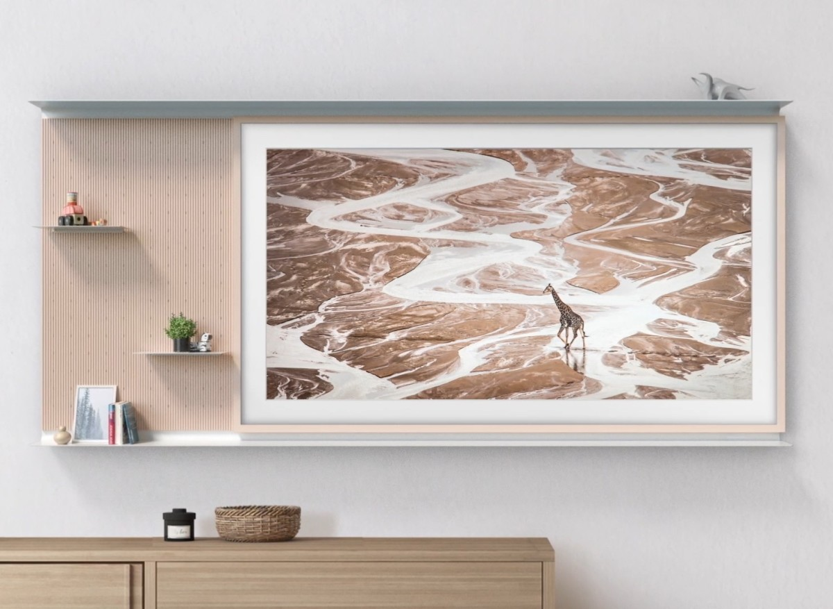 Samsung's My Shelf perfectly blends The Frame TV into your home decor