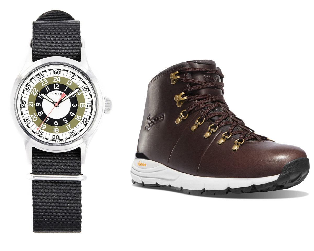 Todd Snyder's MOD Watch (left - $99), Danner Mountain 600 (right - $120)