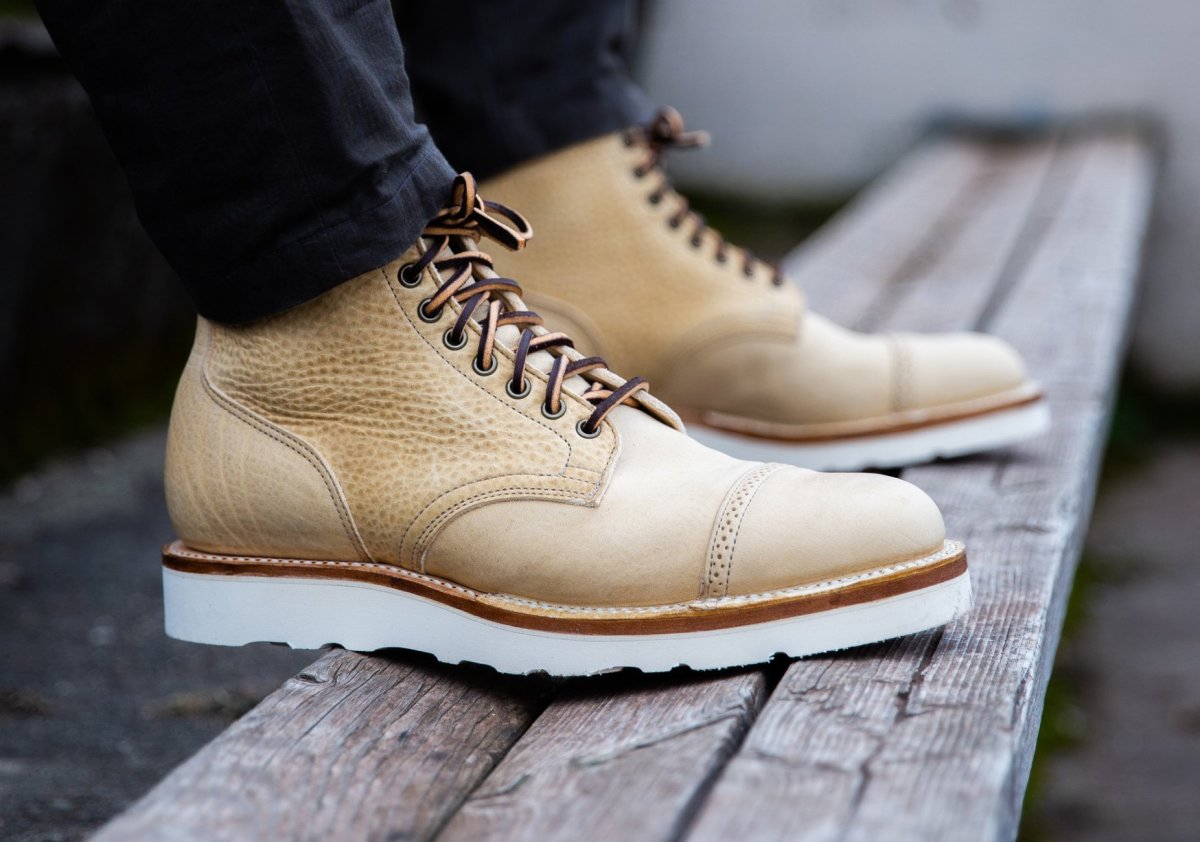 Viberg Natural Olive Service Boot