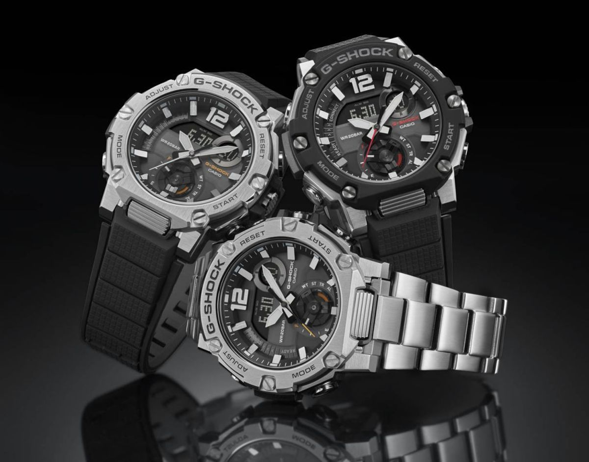 G-Shock's new G-STEEL GST-B300 makes its debut with a new Carbon Core Guard structure