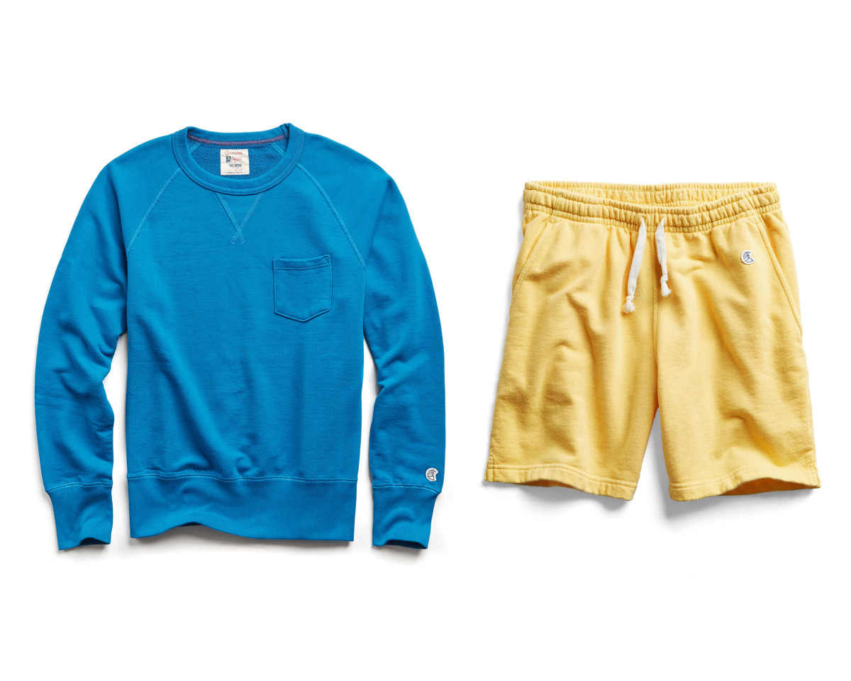 Champion Lightweight Pocket Sweatshirt ($69, orig. $98), Champion Lightweight Warm Up Short ($59, orig. $88)