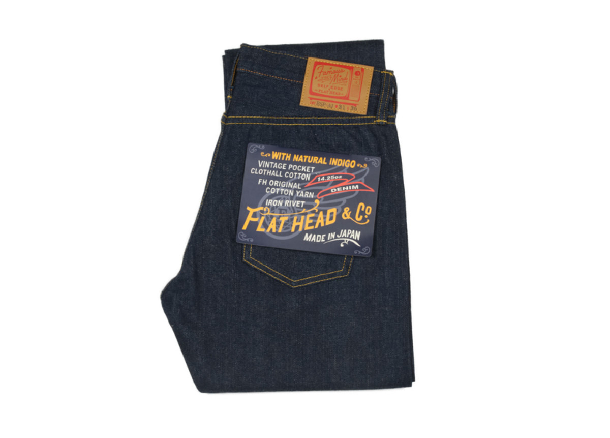 Flat Head Bsp-ai Self Edge Natural Indigo Jeans ($250, orig. $375)