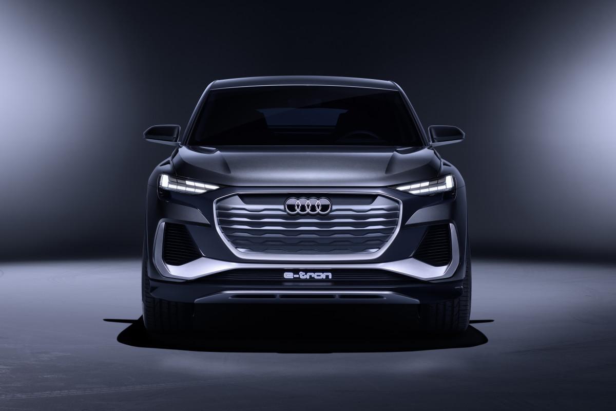 Audi reveals its muscular Q4 Sportback e-tron concept