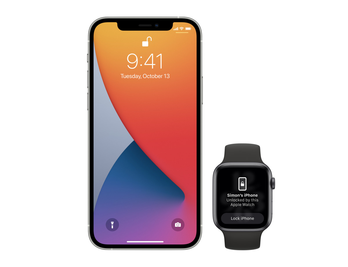 Apple iOS 14.5 Unlock iPhone with Apple Watch