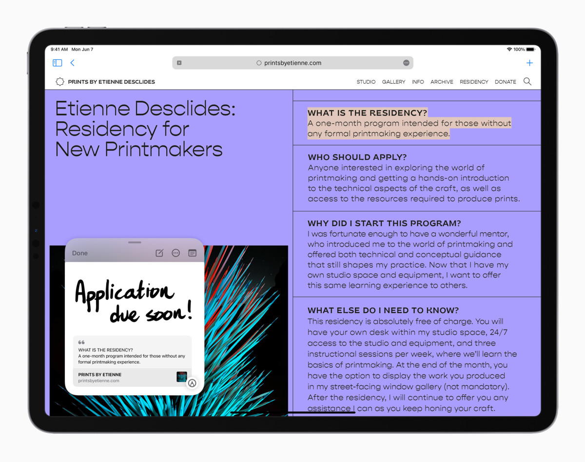 Apple_iPadPro-iPadOS15-QuickNote-Safari_060721
