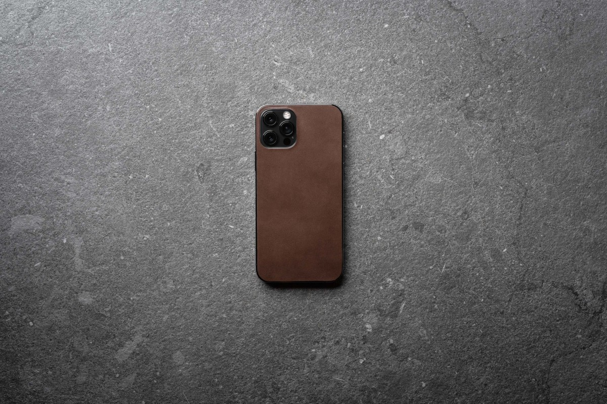 Nomad Leather Skin for iPhone 12