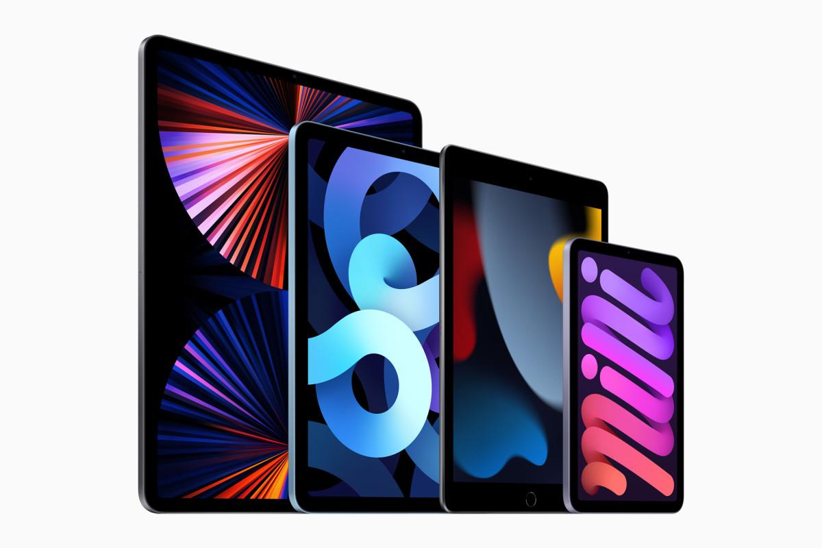 Apple iPad 2021 lineup